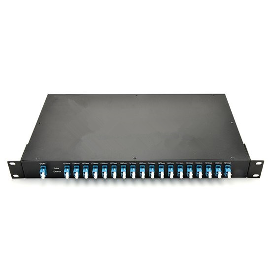 18 channels Duplex CWDM MUX DEMUX 1270nm to 1610nm with Monitor Port