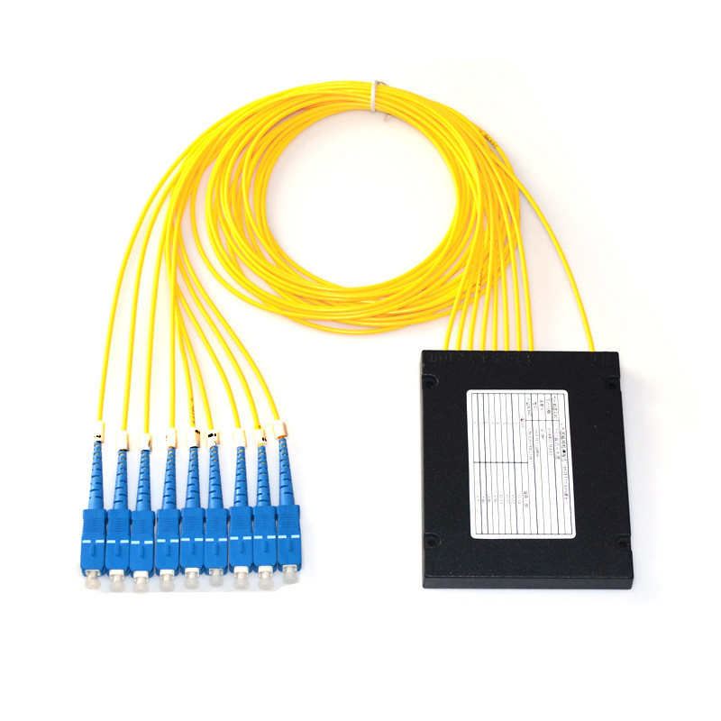1x8 Fiber optical PLC Splitter, Splice/Pigtailed ABS Module, 2.0mm, SC/UPC