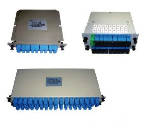 1x2 Fiber PLC Splitter, Mini Plug-in Type/Card Insertion type/Cassette SC/LC/FC/ST, APC/UPC