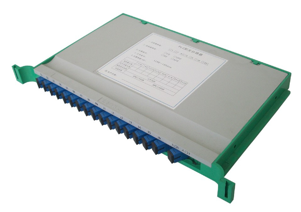 1X16 Fiber PLC Splitter, Mounted on a Fiber Splice Tray, SC/APC
