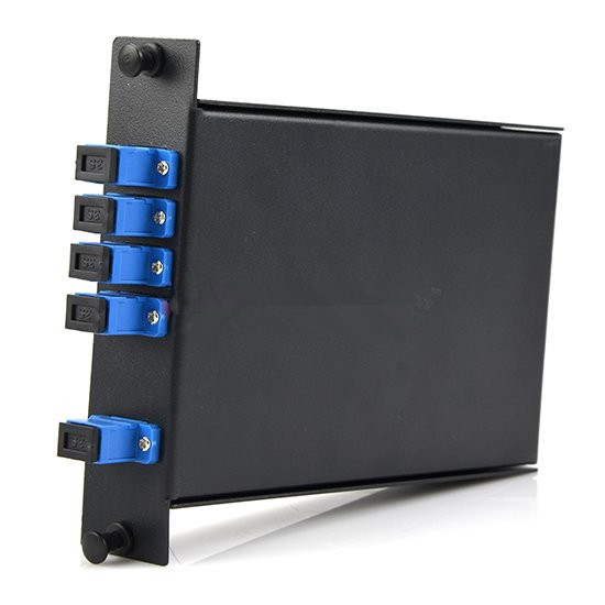 1×4 Fiber PLC Splitter with standard LGX Metal Box