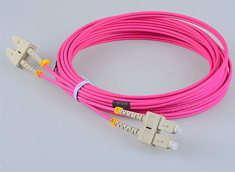 SC UPC to SC UPC 10G 50/125 OM4 Simplex Multimode  Fiber Optic Patch Cord,Fiber Optic Patch Cables