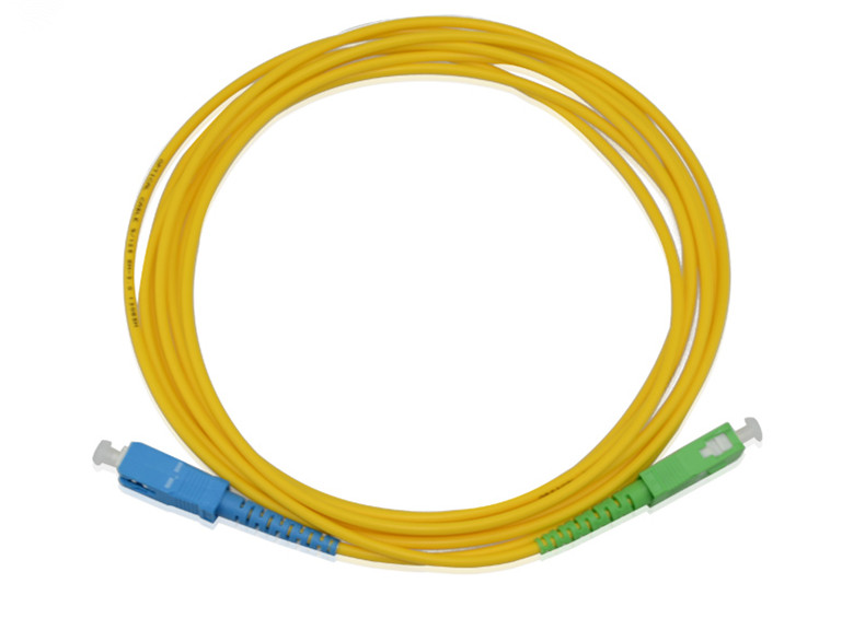 SC APC to SC UPC 9/125 OS2 Simplex Single-Mode Fiber Optic Patch Cord,Fiber Optic Patch Cables