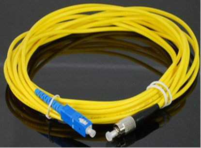 SC UPC to FC UPC 9/125 OS2 Simplex Single-Mode Fiber Optic Patch Cord,Fiber Optic Patch Cables