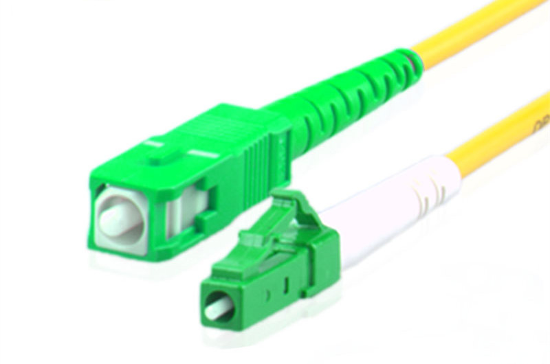 SC APC to LC APC 9/125 OS2 Simplex Single-Mode Fiber Optic Patch Cord,Fiber Optic Patch Cables
