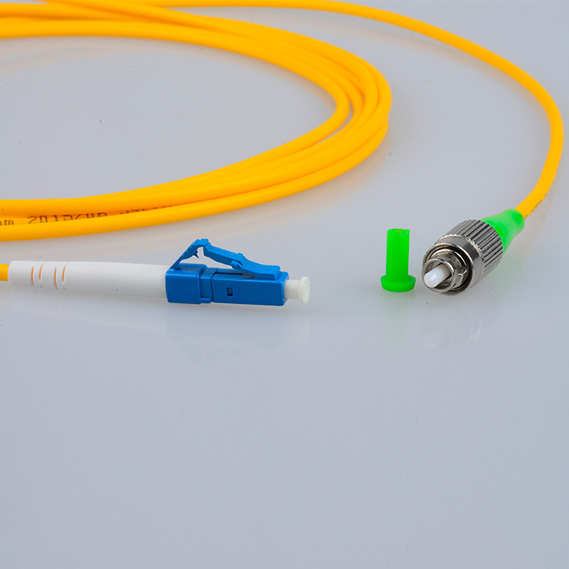 FC APC to LC UPC 9/125 OS2 Simplex Single-Mode Fiber Optic Patch Cord,Fiber Optic Patch Cables