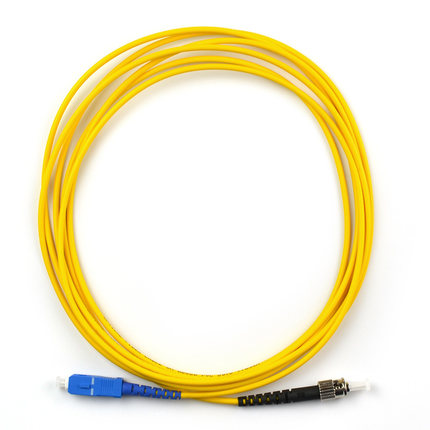 SC UPC to ST UPC 9/125 OS2 Simplex Single-Mode Fiber Optic Patch Cord,Fiber Optic Patch Cables