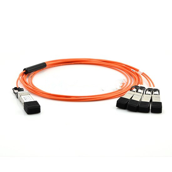 3m Cisco QSFP-4X10G-AOC3M Compatible 40G QSFP+ to 4x10G SFP+ Breakout Active Optical Cable