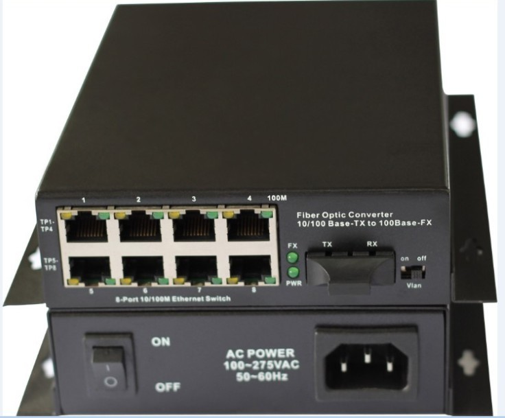1 Fiber Port &8 UTP lan port  Fiber optic ethernet switch Fiber Media Converter