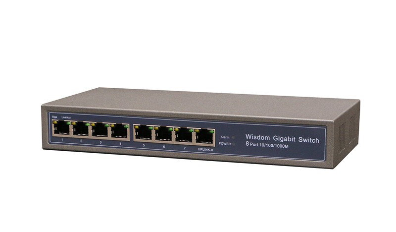 8 Ports Gigabit PD switch reverse power supply