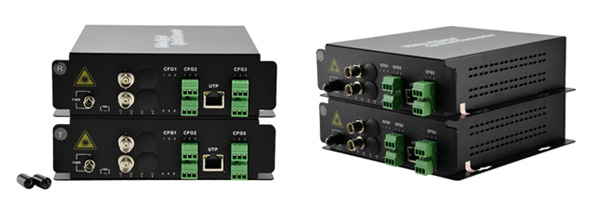 4 Channel Video & 4 Bi-Directional Data & 4 Bi-Directional Audio to Fiber SM 20km Optical Video Multiplexer
