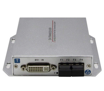 1 Channel DVI (Video/Audio/Data) fiber optic video converter over Optical Fiber Transmitter and Receiver Set